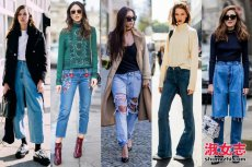 牛仔裤是流行的主轴 牛仔裤潮流搭配街拍