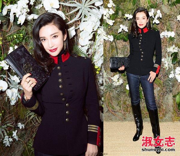 中国女星纽约时装周斗艳 李冰冰优雅娜扎清新 2017秋冬纽约时装周