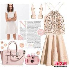 春季少女系的粉色穿衣搭配风格