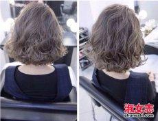 2017年流行的短发烫发设计图片