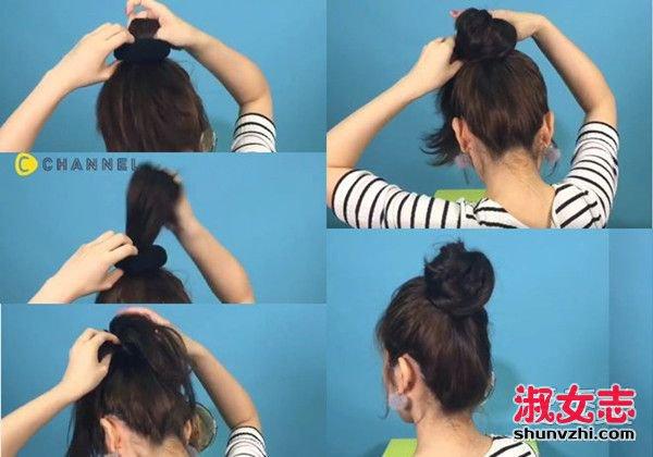 手再残也学得会!丸子头的三种简单绑法 丸子头的扎法图解