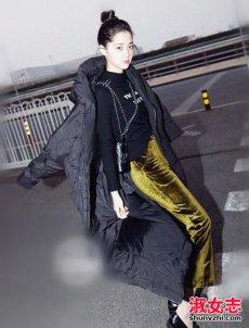 欧阳娜娜机场街拍图片 欧阳娜娜时装周街拍