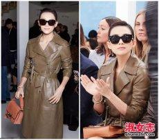 中韩女星2017最新时装周街拍搭配