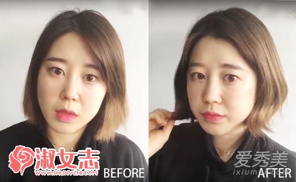 粗硬直发怎么做卷发?一根直板夹就可以 直发怎么弄卷