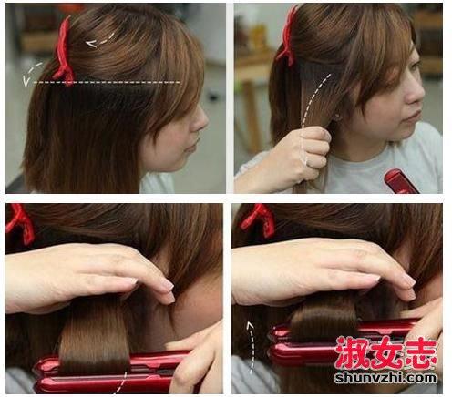短发怎么夹蛋卷头?用直板夹弄蛋卷头的方法 怎样用夹板卷蛋卷头