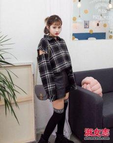 2017短发女生春季穿衣搭配街拍