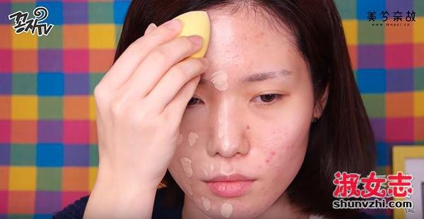 脸上有痘痘怎么化妆?遮痘痘化妆步骤图解 化妆怎么遮痘痘