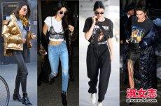 超模Kendall Jenner街拍 春季潮女搭配街拍