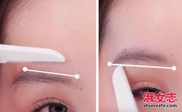 女生怎么修眉毛 修眉毛的步骤图片
