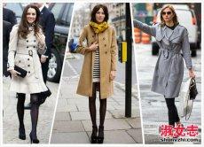 四月份风衣穿起来 四月女人风衣打扮街拍