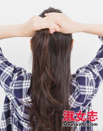 长头发怎么扎半丸子头?长头发扎半丸子头步骤图解