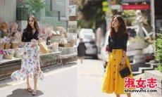夏季长裙怎么搭配 显高显瘦的效果