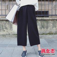 矮个子女生穿阔腿裤图 矮个子女生怎么搭配