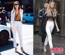 白色裤子配什么上衣 白色裤子夏季搭配