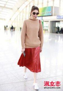 百褶裙配技巧 秋季百褶裙怎么配衣服和鞋
