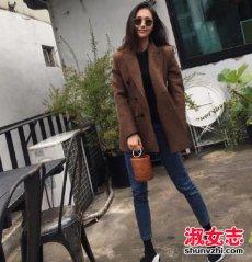2017秋季女生搭配推荐风衣+毛呢外套