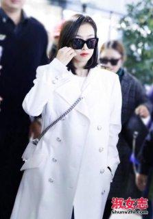 白色风衣里面搭什么好 看宋茜风衣搭配
