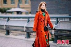 橙色配什么颜色好看 街拍橙色女装搭配技巧