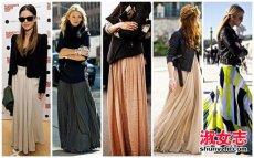 欧美潮女教你冬季怎么穿裙子
