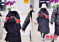赵丽颖最新机场造型 和杨幂撞衫了