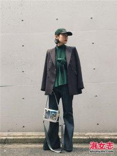 日本1米5女生搭配示范 冬季穿出潮味