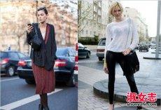 秋冬季街拍达人针织衫搭配法则