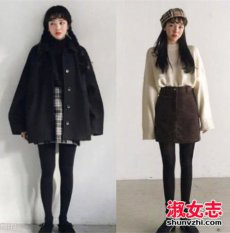 韩国妹子冬季穿衣搭配风格推荐