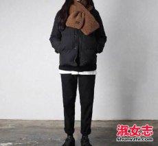 冬季黑色棉服怎么搭配好看图文