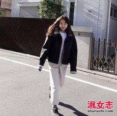 冬天韩国女生穿衣搭配街拍推荐