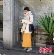 街拍潮女出街羽绒服搭配图片