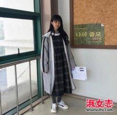 韩国少女冬季日常搭配街拍图片