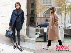 冬季潮女长外套短外套搭配技巧