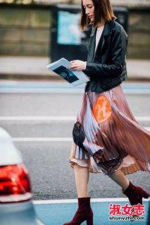 冬季怎么穿裙子学欧美达人街拍