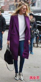 紫色衣服适合什么肤色 紫色大衣适合那些人