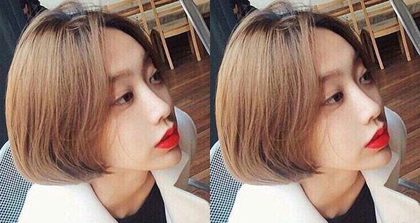 短头发 烫发 发型设计,大侧分 发型设计最显知性气质,发尾微微内扣图片