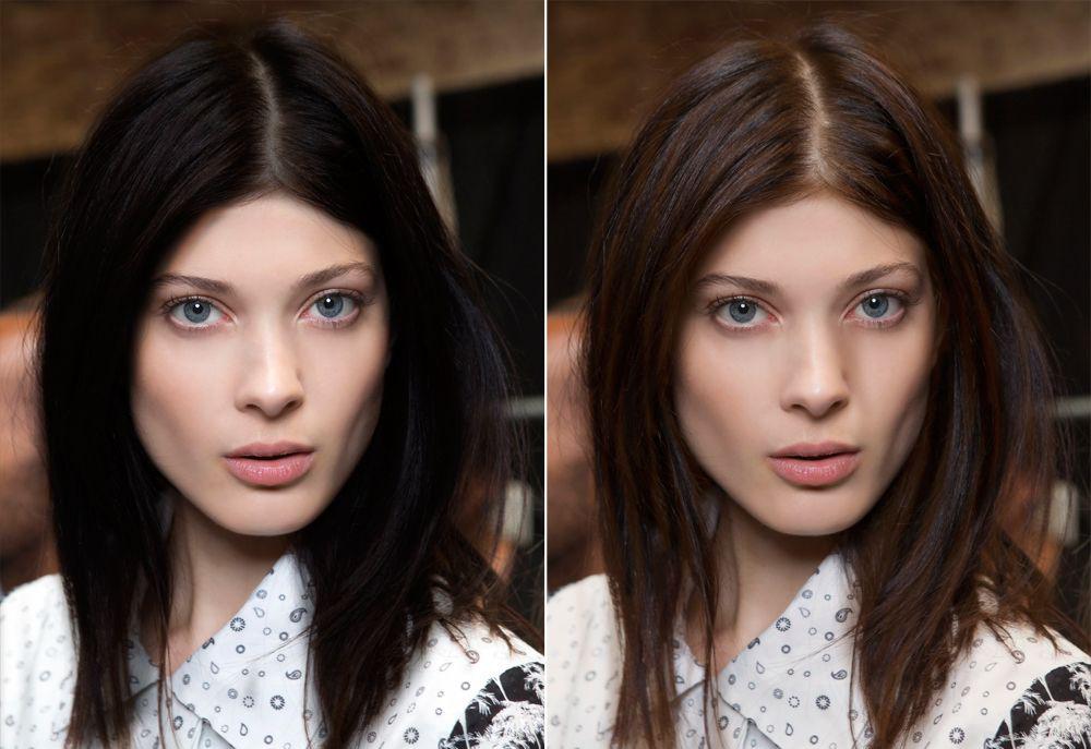 尤其要避开削薄的发尾,可以在下巴处修出角度,使得前面的头发更长图片
