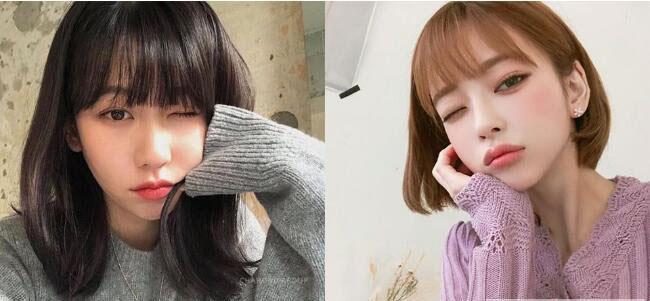 女生刘海常见类型 2019年最流行的都在这图片