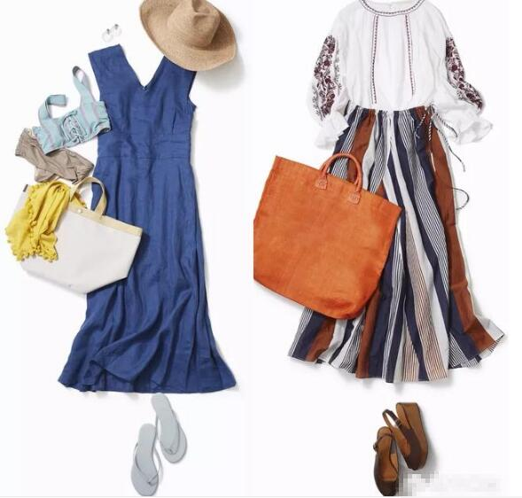蓝色连衣裙
