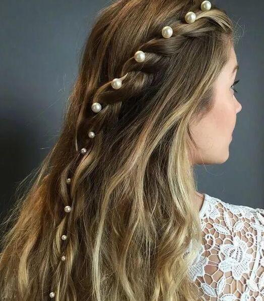 温柔珍珠发卡