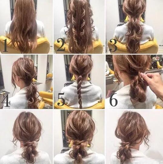 四个小卷发的发束