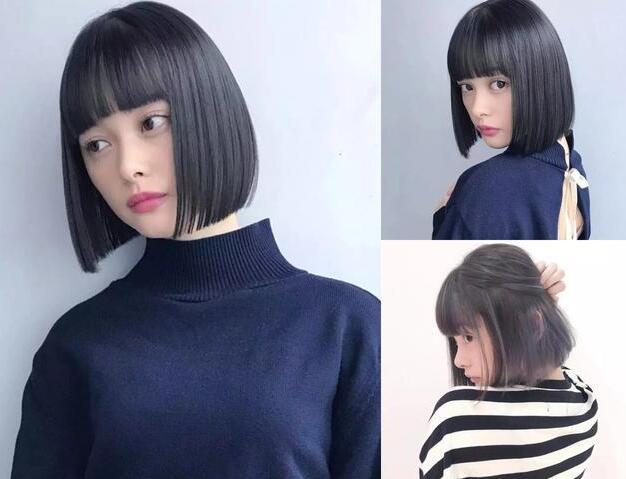2019流行直发短发发型 超适合学生妹的哦图片