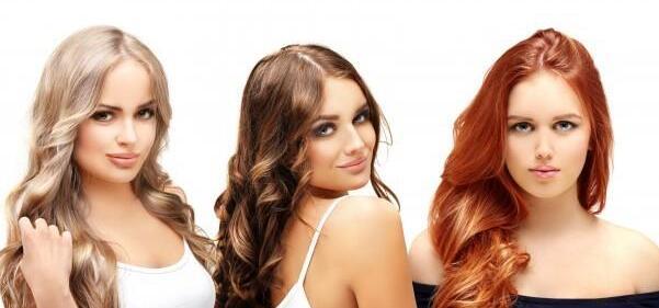 不同棕色头发