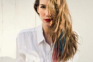发尾渐变色头发图片 适合黑色头发的发尾渐变