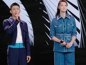 黄景瑜惠若琪同台 187的黄景瑜碰上192的惠若琪变得娇小